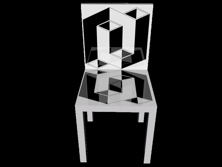 Op-Art Stuhl Grafik 20
