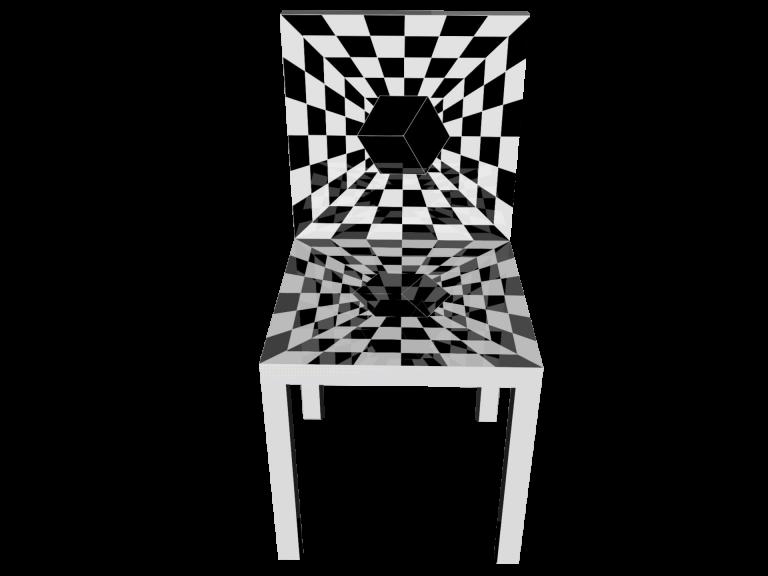 Op-Art Stuhl Grafik 03