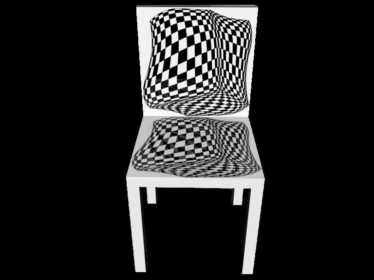 Op-Art Stuhl Grafik 05