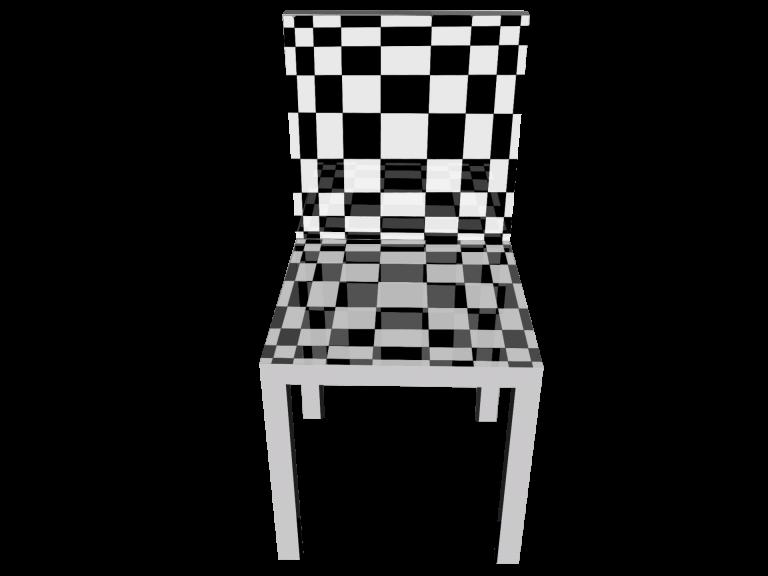 Op-Art Stuhl Grafik 06
