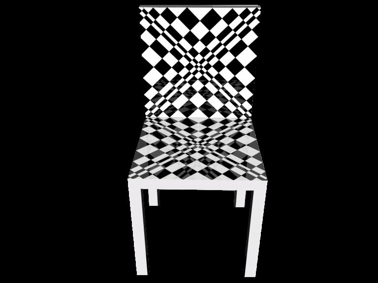 Op-Art Stuhl Grafik 07