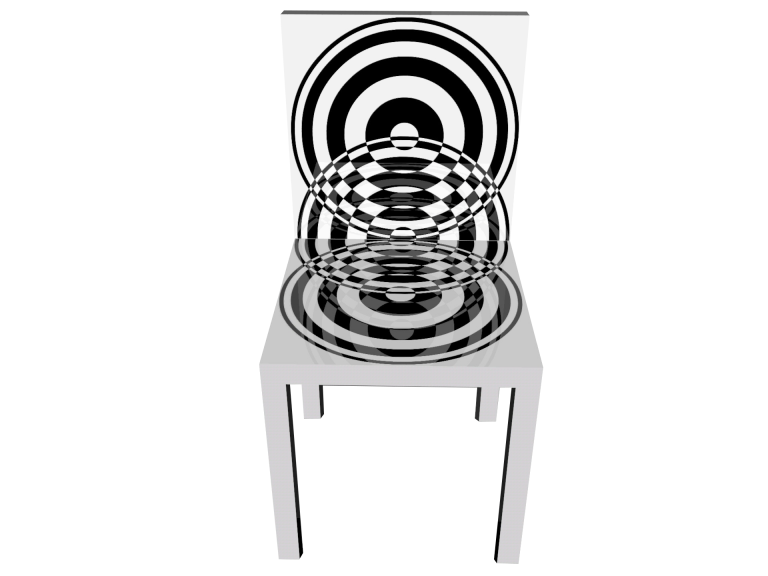 Op-Art Stuhl Grafik 08