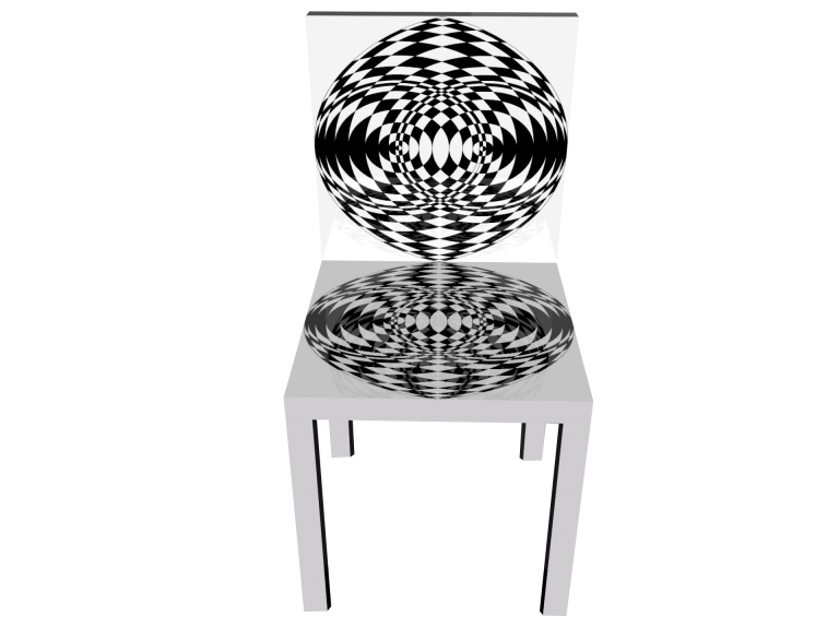 Op-Art Stuhl Grafik 09